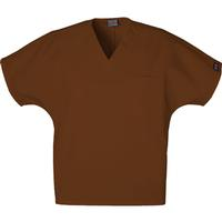 Cherokee Unisex Chocolate V-Neck Tunic, , medium