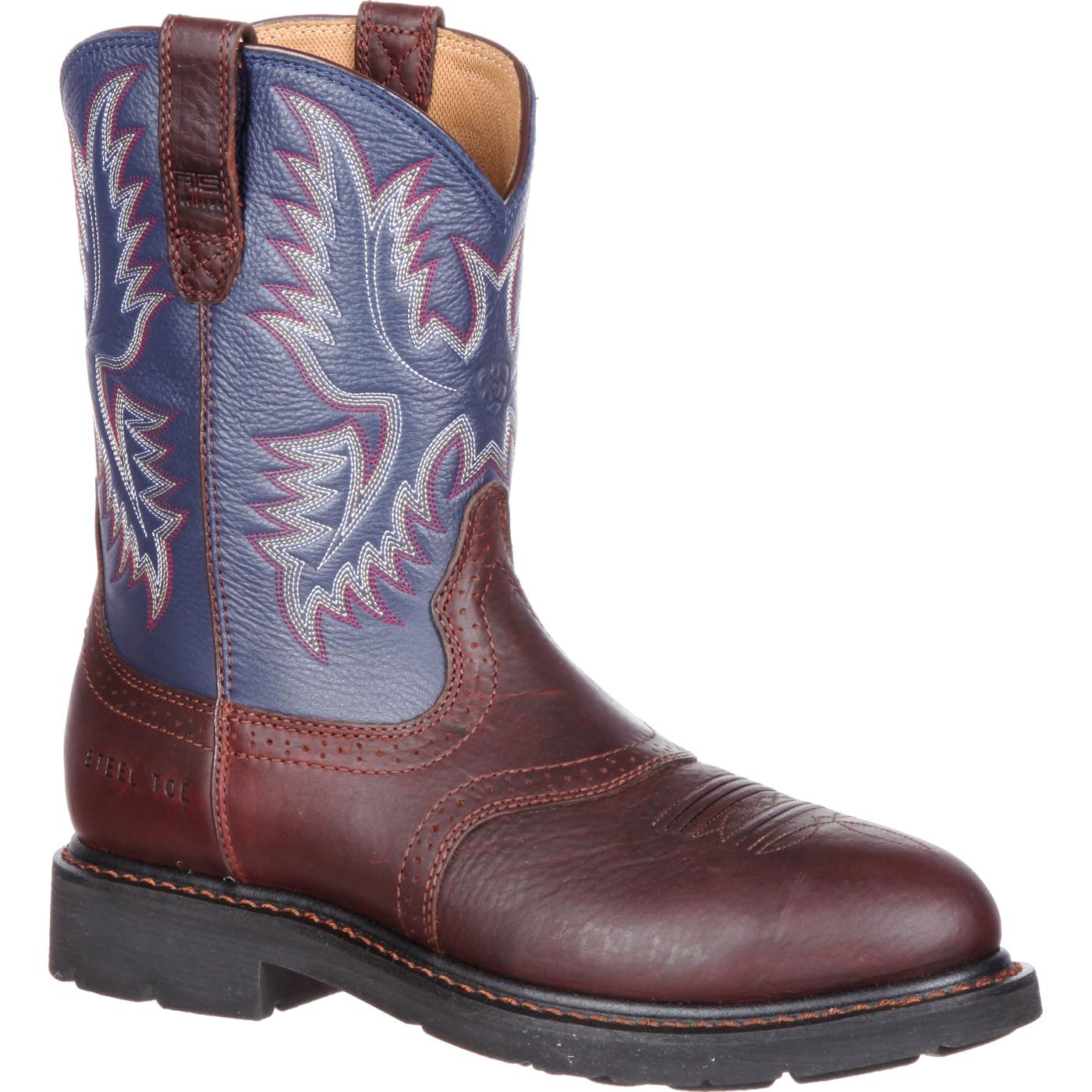 Ariat Sierra Saddle Steel Toe Western Work Boot 10002438