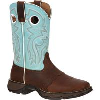 Lady Rebel by Durango Women's Powder n' Lace Saddle Western Boot, , medium