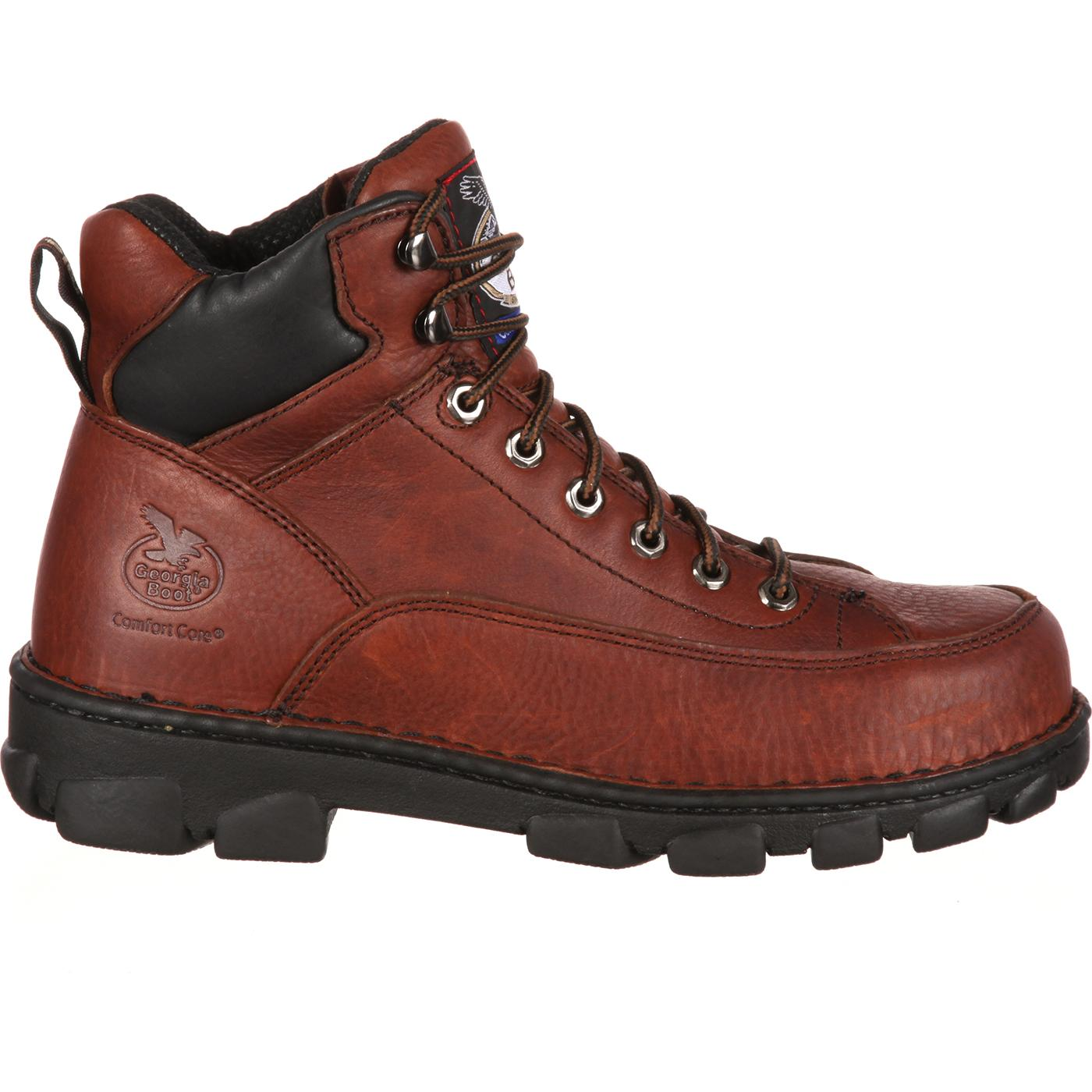 Georgia Boot Menu0026#39;s Eagle Light Steel Toe Work Boots - Style #G6395