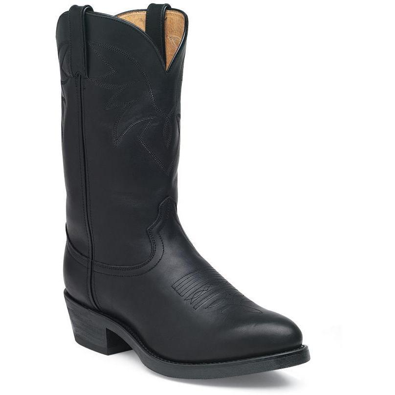 Men S Oiled Black Leather Comfort Western Boots Durango