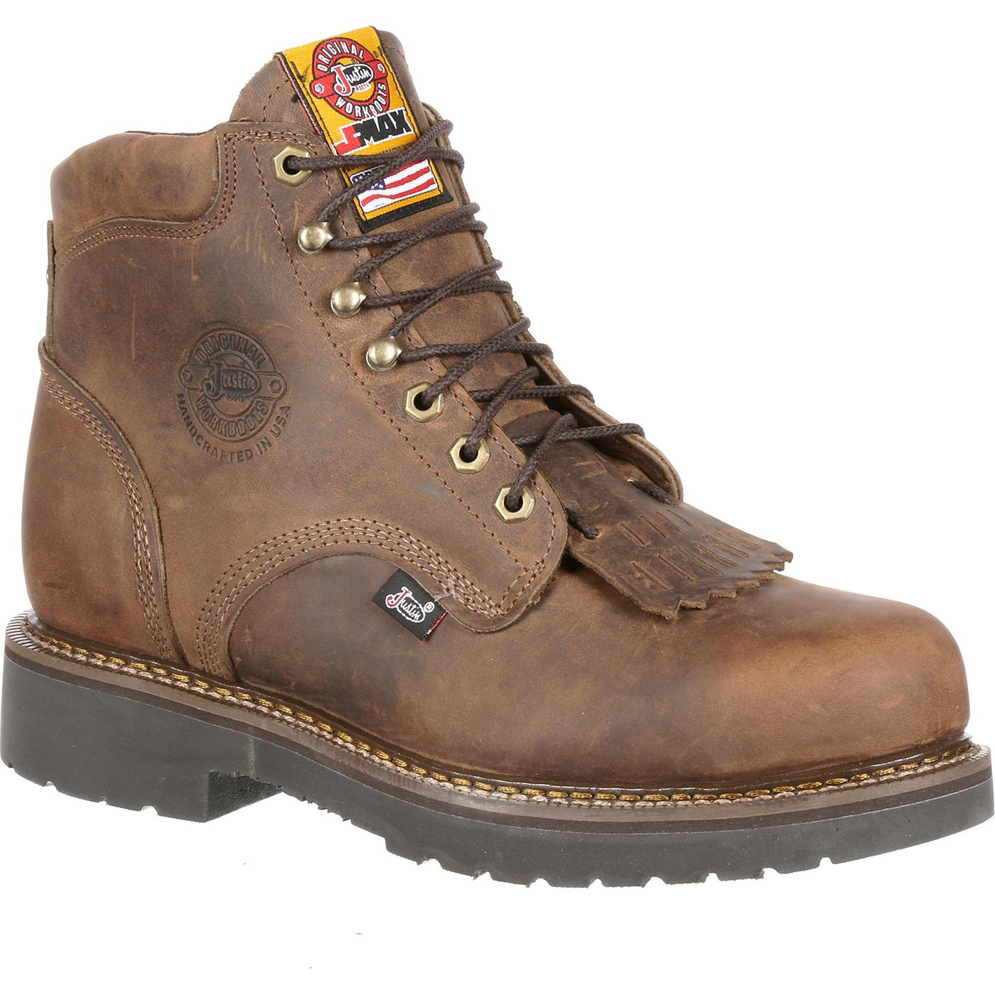 justin work steel toe csa approved puncture resistant work