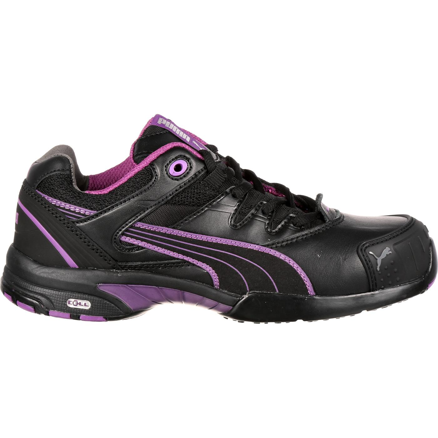 Women S Purple Amp Black Puma Athletic Steel Toe Work Shoe
