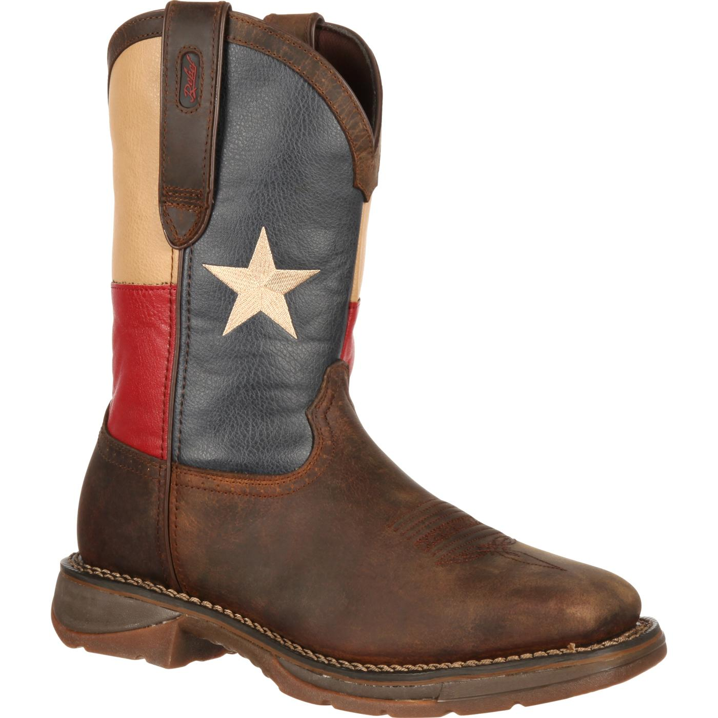 11 Quot Rebel By Durango Texas Flag Western Men S Steel Toe