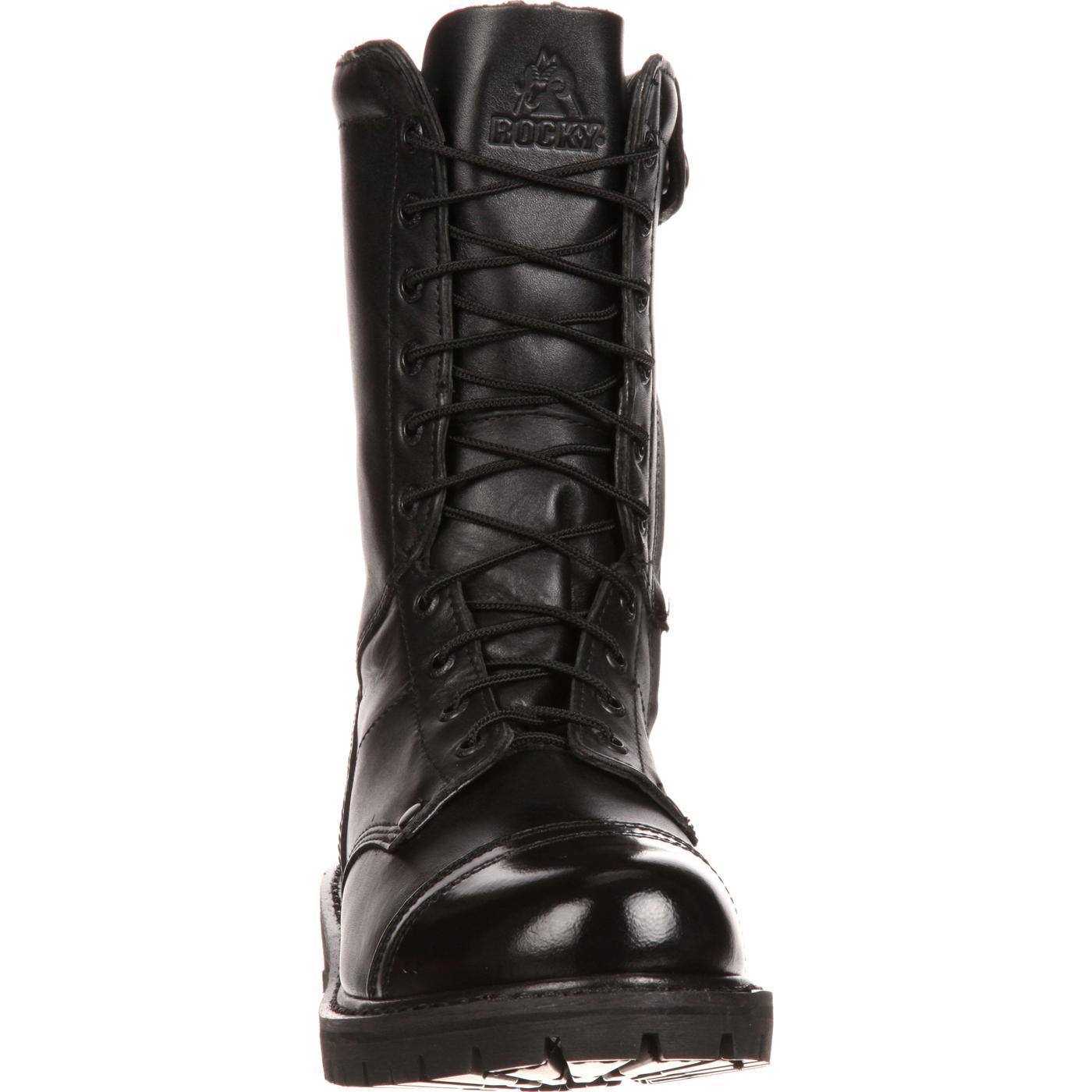 Men S Side Zipper Jump Boots Rocky Duty Boots