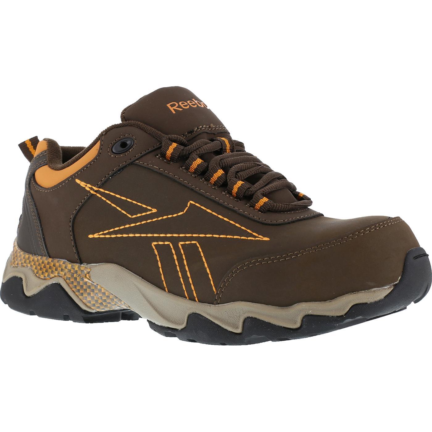 Menu0026#39;s Brown Composite Toe Work Athletic Shoe Reebok Beamer
