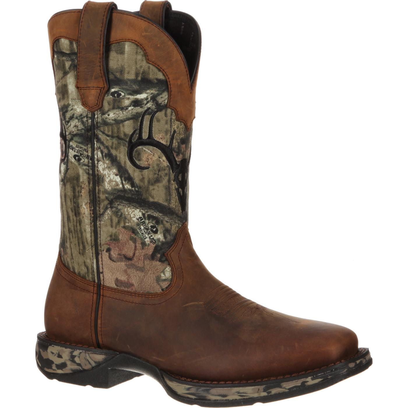 Rebel By Durango Waterproof Camo Deer Skull Western Boot