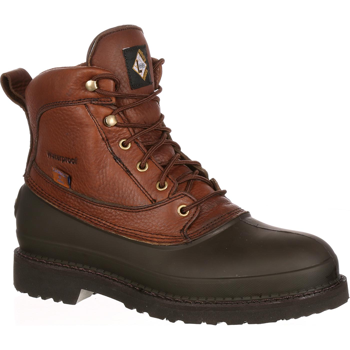 Rugged 6u0026quot; Lehigh Steel Toe Waterproof Swampers Work Boot