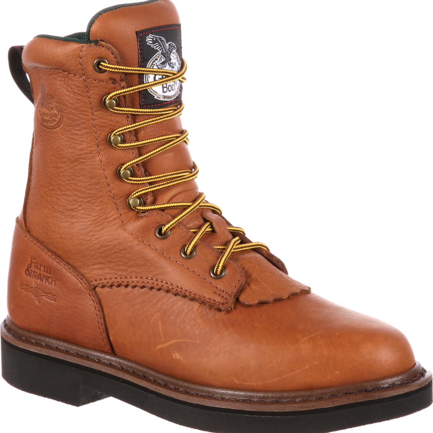 Men S Lacer Work Boots With Spr Leather Georgia Boot G7013