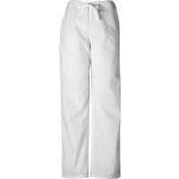 Cherokee Unisex Short White Drawstring Pant, , medium