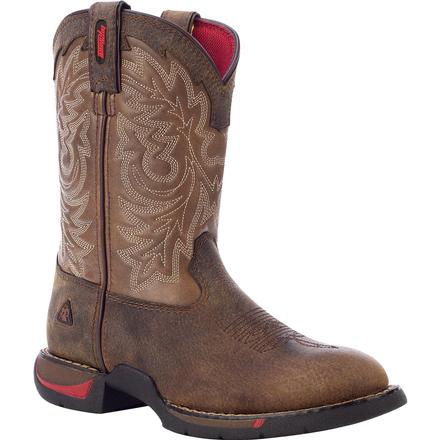 Rocky Kid's Long Range - Round Toe Western Boot, , large