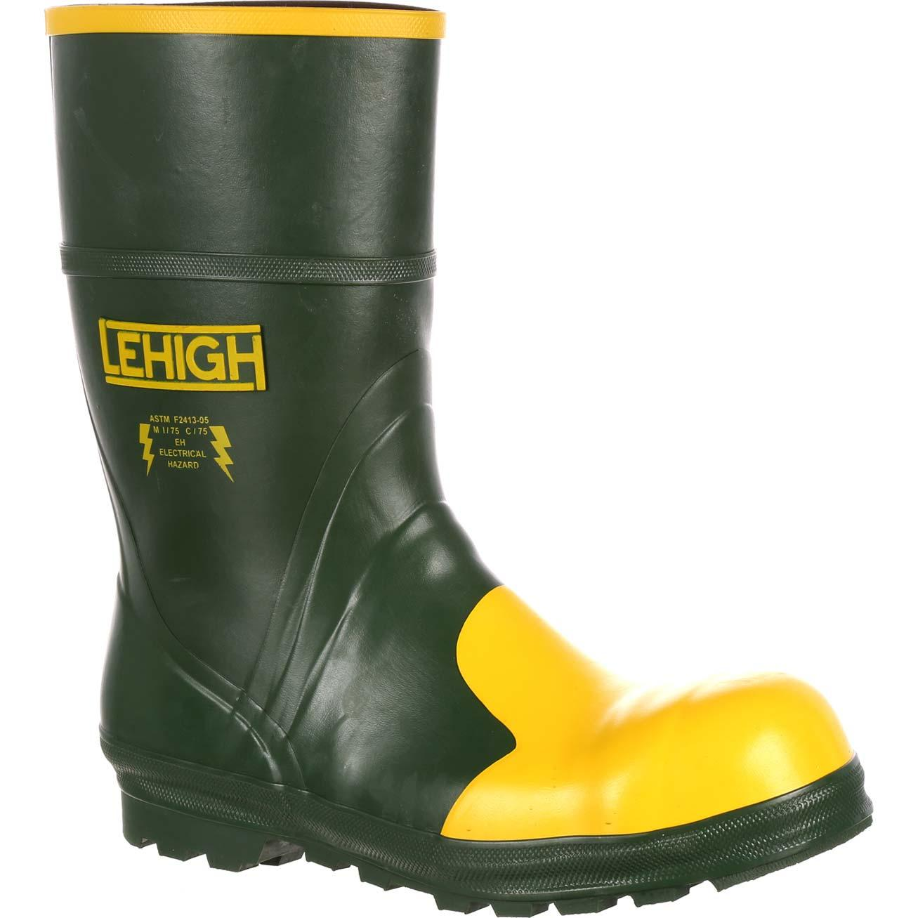 Lehigh Safety Shoes Uni Steel Toe Rubber Hydroshock Waterproof Lectric Work Bootlehigh