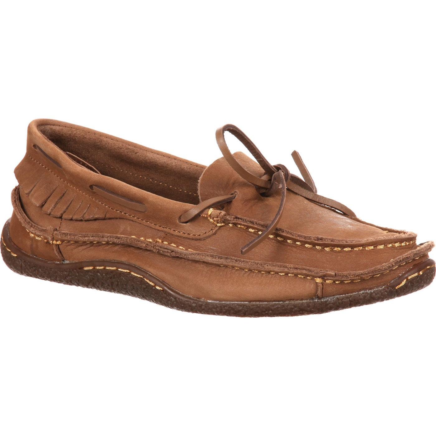Womens Leather Moccasins Shoes