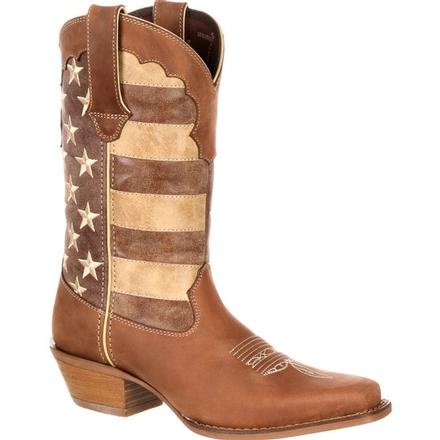 Crush by Durango Women's Distressed Flag Boot, , large