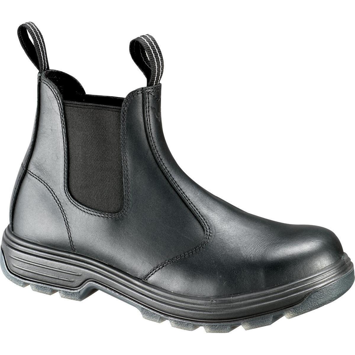 Men S Pull On Thorogood Steel Toe Black Work Boot 804 6026