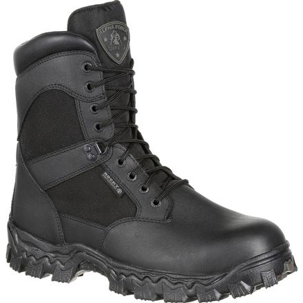 Rocky AlphaForce Waterproof Duty Black Boot, , large