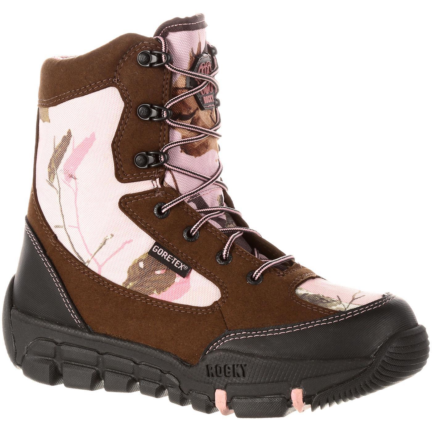 Women S Pink Camo Gore Tex Waterproof Insulated Boot Rocky