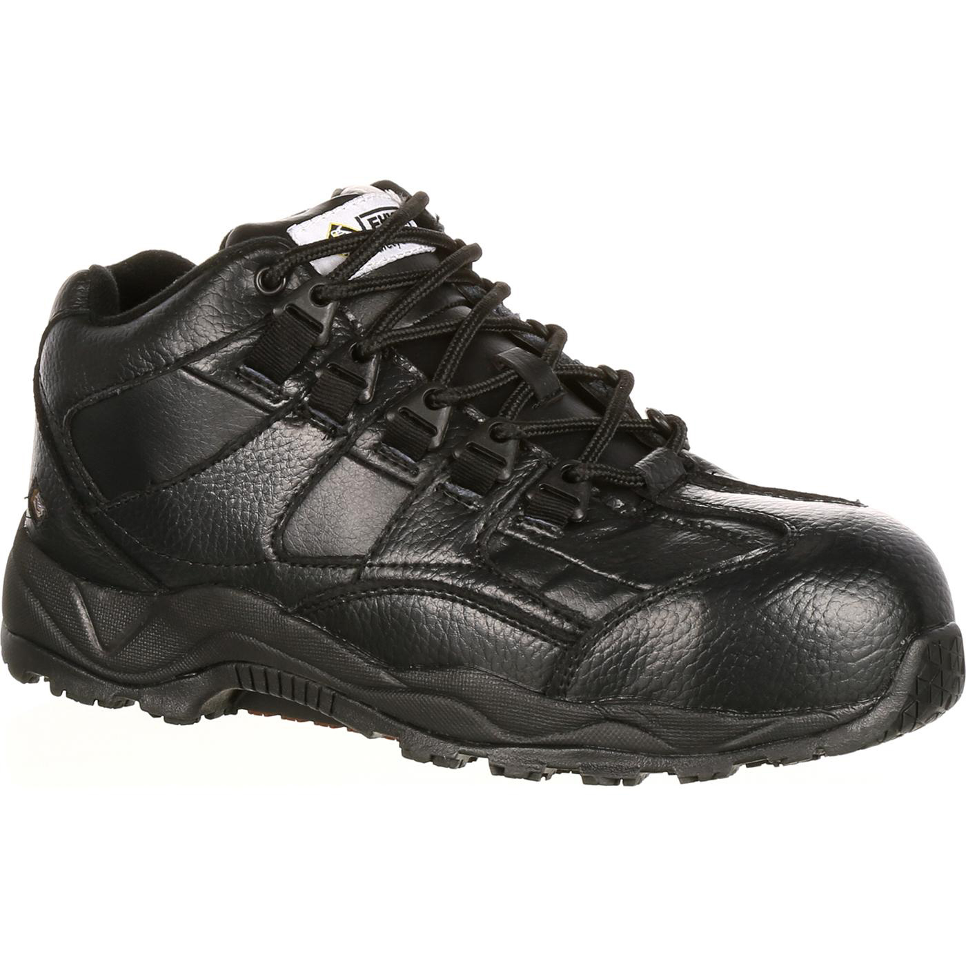 Black Composite Toe Hitop Hiker Lehigh Safety Shoes 6333