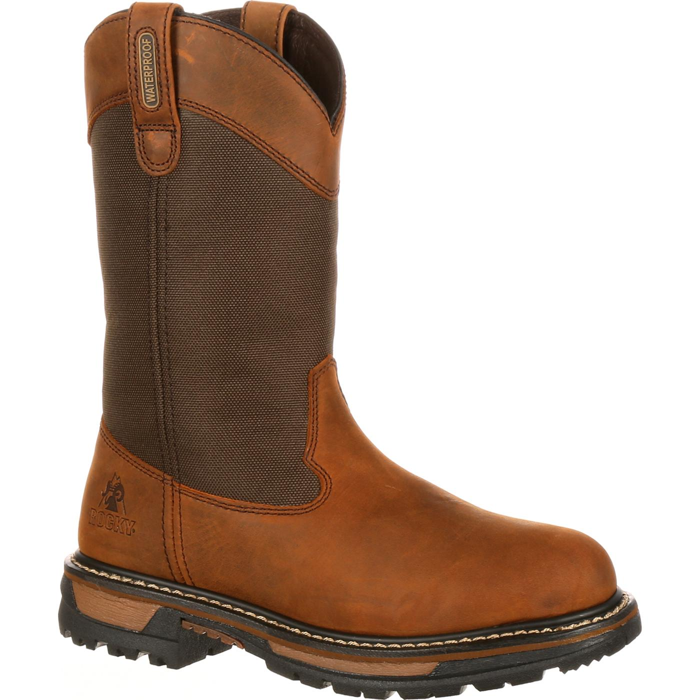 Men S Insulated Waterproof Work Boots Rocky Ride Fq0002867