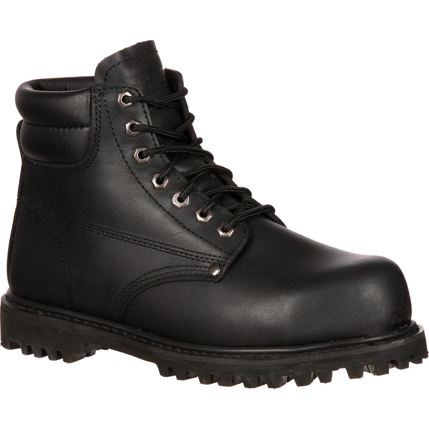 6 Quot Black Steel Toe Work Boots Lehigh Safety Shoes 5236