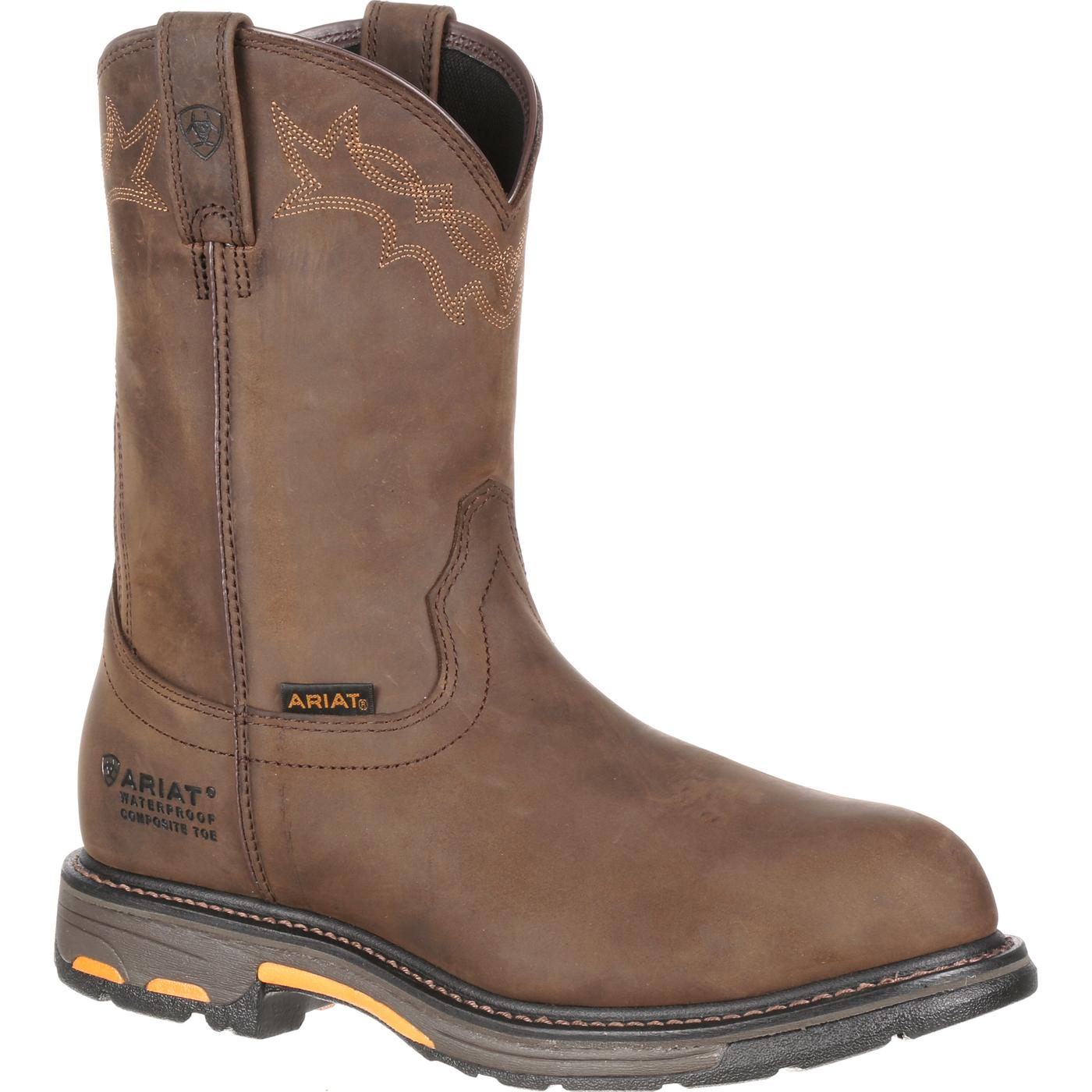 Ariat Workhog Pull On Composite Toe Waterproof Boot 10001200