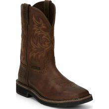 Justin Work Stampede Men's Steel Toe Western Work Boot