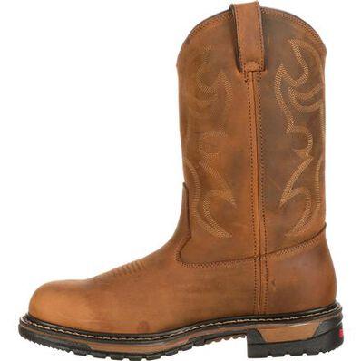 Rocky Original Ride Branson Steel Toe Waterproof Western Boots, , large
