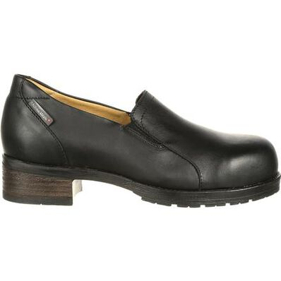 Mellow Walk Vanessa Women's Steel Toe CSA-Approved Puncture-Resistant Slip-On Work Shoe, , large
