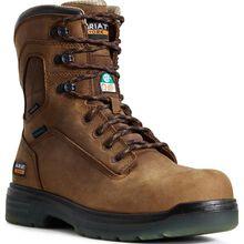 Ariat Turbo Men's 8-Inch CSA Carbon Toe Electrical Hazard Puncture-Resistant Waterproof Work Boot