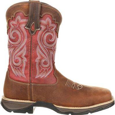 Lady Rebel Work™ by Durango® Women's Waterproof Composite Toe Western Work Boot, , large