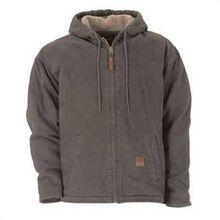 Berne Greystone Sherpa Lined Sanded Hooded Work Jacket