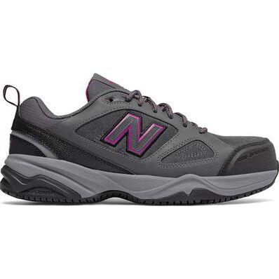 New Balance 627v2 Women's Steel Toe Slip Resistant Static Dissipative Leather Athletic Work Shoe, , large