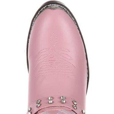 Durango® Big Kid Pink Rhinestone Western Boot, , large