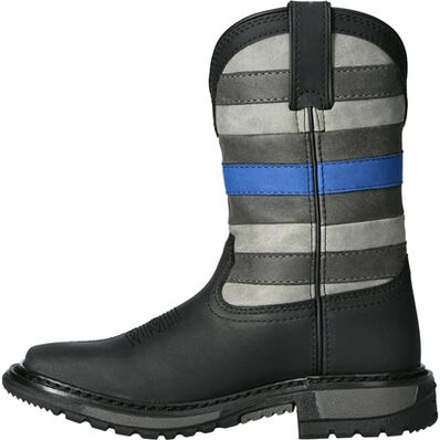 Rocky Blue Line Big Kid Western Boot, , large