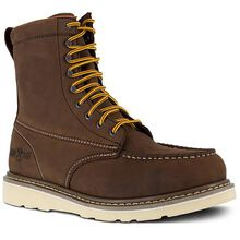 Iron Age Reinforcer Men's 8-Inch Steel Moc Toe Electrical Hazard Leather Work Boot
