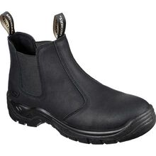 SKECHERS Work Tapter Men's Steel Toe Electrical Hazard Slip-On Chelsea Work Boot