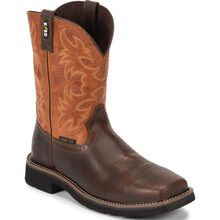 Justin Work Actuator Men's Composite Toe Static-Dissipative Western Pull-On Work Boot