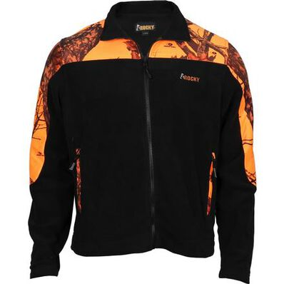 Rocky SilentHunter Fleece Jacket, Mossy Oak Blaze, large
