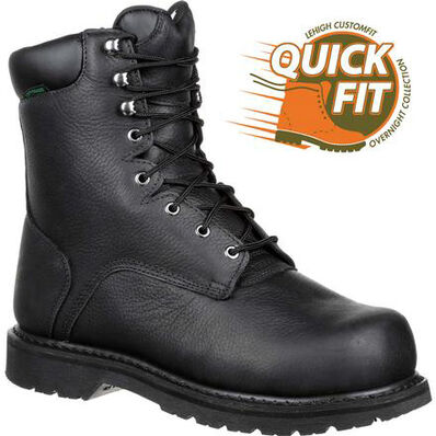 QUICKFIT Collection: Lehigh Safety Shoes Unisex Steel Toe Internal MetGuard Waterproof Work Boot, , large