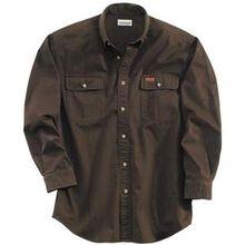 Carhartt Dark Brown Sandstone Twill Shirt