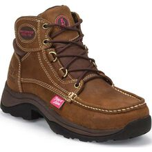 Tony Lama Saddle Tan Tonk 3R Casual Women's Steel Toe Waterproof Work Boot