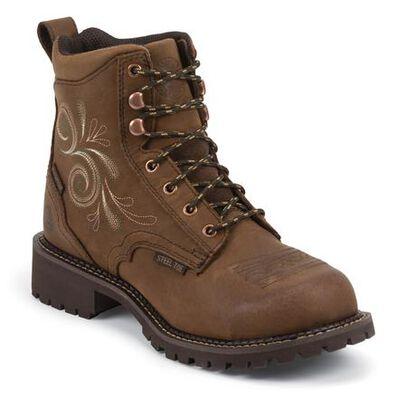Justin Work Women's Steel Toe Waterproof Work Boot, , large