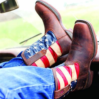 Rebel™ by Durango® Steel Toe Flag Western Flag Boot, , large