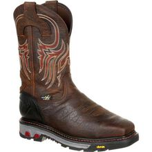 Justin Original Workboots Commander-X5 Driscoll Steel Toe Internal Met Guard Waterproof Western Work Boot