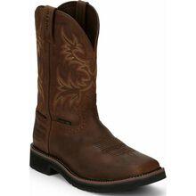 Justin Work Stampede Men's Steel Toe Waterproof Western Work Boot