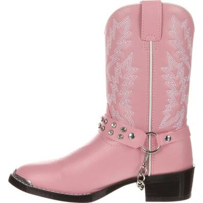 Durango® Little Kid Pink Rhinestone Western Boot, , large