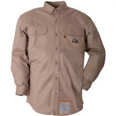 Berne FR Khaki Button-Down Work Shirt, , large
