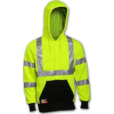 Tingley Job Sight FR Unisex Class 3 Zip-Up Fire-Resistant Hoodie, , large