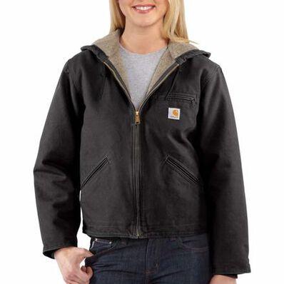 Carhartt Women's Sandstone Sierra Sherpa-Lined Jacket, , large