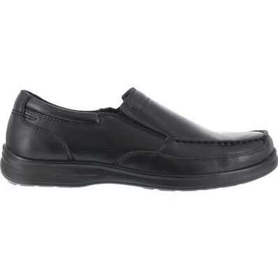Florsheim Work Wily Steel Toe Static-Dissipative Work Slip-On Moc Toe Shoe, , large